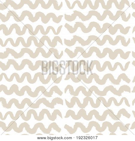 Vector tie dye seamless pattern. Hand drawn shibori print. Ink textured japanese background. Modern batic wallpaper tile. Watercolor ivory endless backdrop.