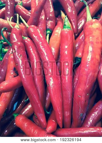 Red chili, fresh vegetable for your health