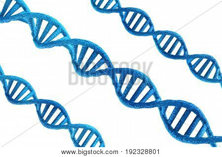 Blue Dna Structures On White Background