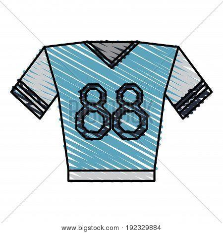 shirt clothe sport icon vector illustration design doodle