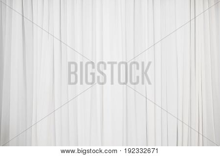 white pleat cloth background or white fabric background