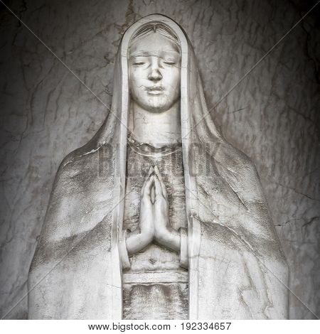 Statue of Mary as a symbol of love and kindness