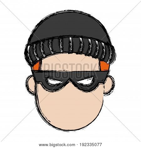 hacker character portrait thief technology image image vector illustration