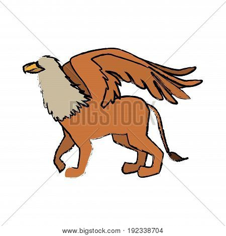 griff greek mythological creature beast image vector illustration