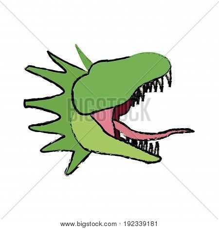 hydra mythological creature monster serpent vector illustration