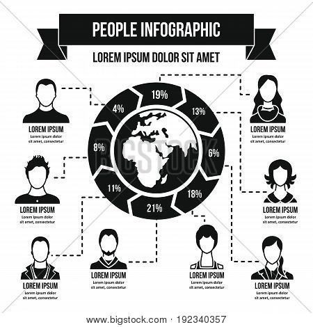 Peolple infographic banner concept. Simple illustration of people infographic vector poster concept for web