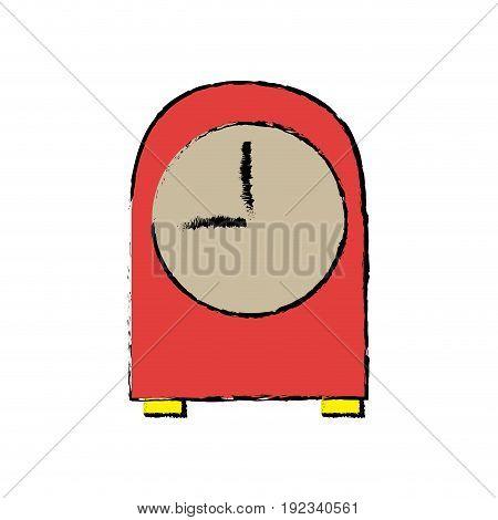 red clock vintage time decoration vector illustration