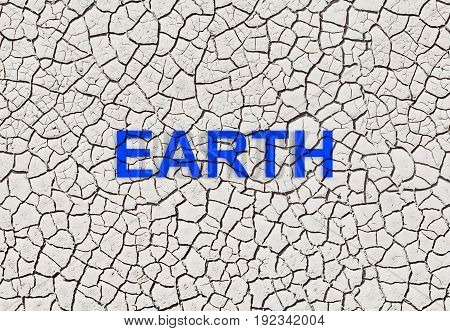 Warning of drought crack dry land Earth