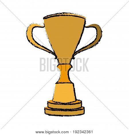 gold trophy award winner metal vector illustration