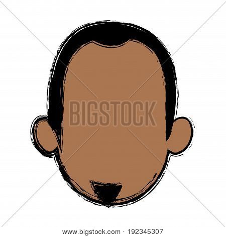 head man character profile people design vector illustration