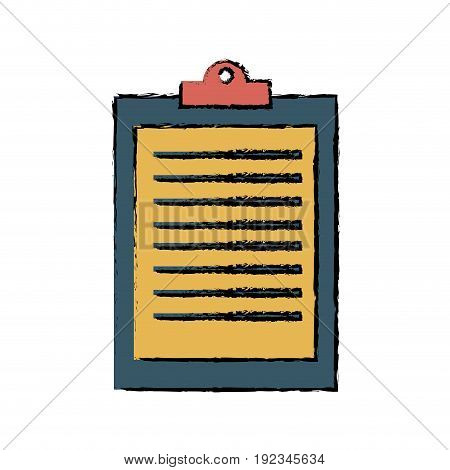 clipboard ckecklist report business office element vector illustration