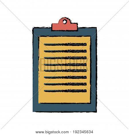 clipboard ckecklist report business office element vector illustration