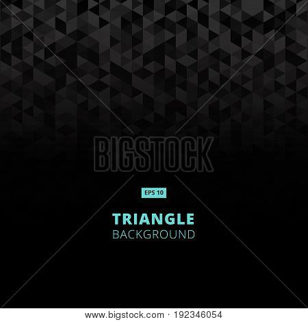 geometric mosaic pattern from black triangle texture abstract vector background illustration. copy space