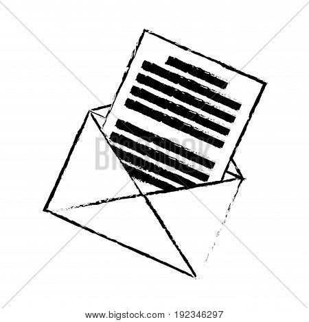 email envelope message communication web icon vector illustration