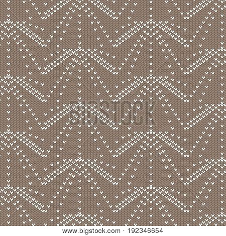 brown and white ray dot line knitting pattern background vector illustration image