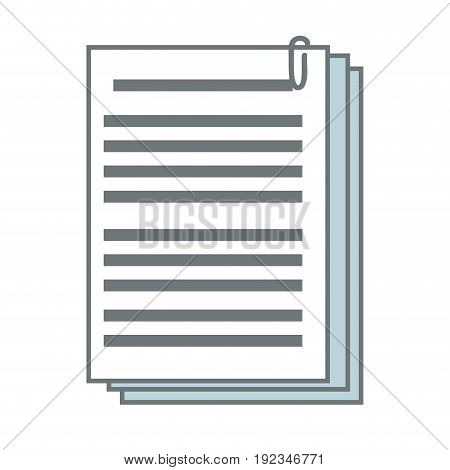documents paper file office supplies vector illustration