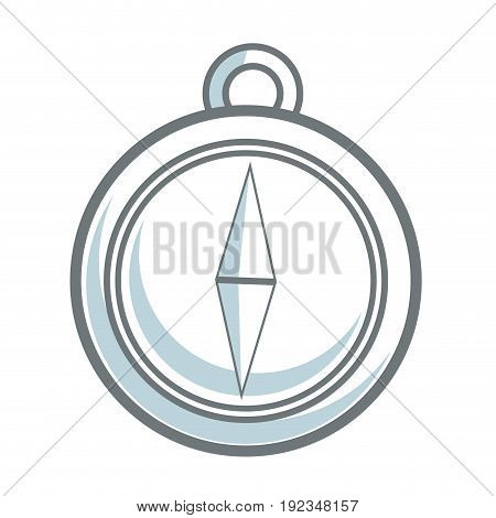 navigation compass icon destination travel direction vector illustration