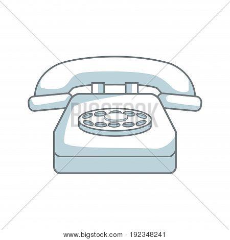 classic telephone communication call device retro vector illustration