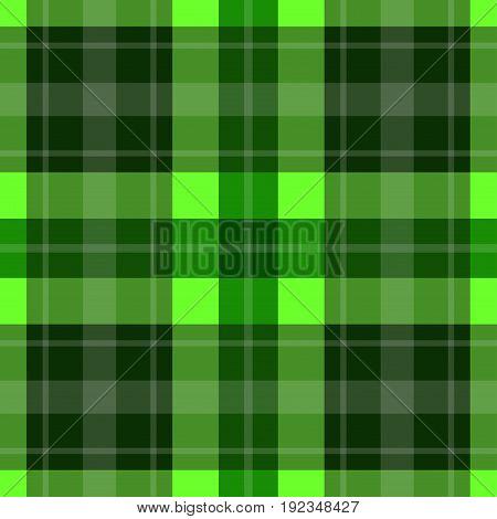 seamless illustration - green tartan with white stripes
