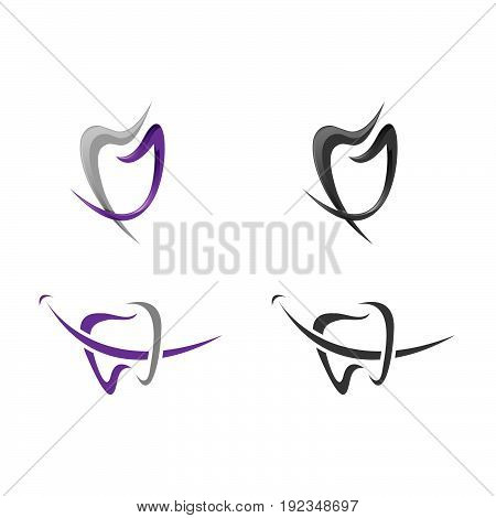 Tooth Vector logo Template. Medical Design Logo. Dentist Office Icon. Oral Care Dental and Clinic Tooth Logotype