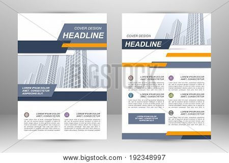 Vector flyer template layout design. For business brochure, poster, annual report, leaflet, magazine or book cover