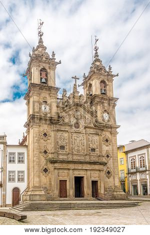 View at the Church of Santa Cruz in Braga - Portugal