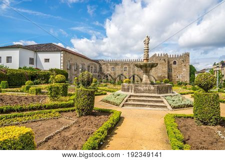 View at the Archbishops Court garden in Braga - Portugal