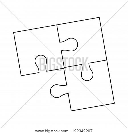 parts of paper puzzles business concept layout vector illustration
