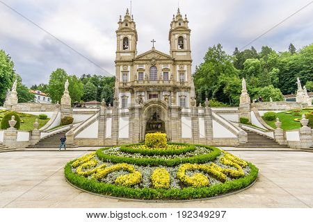 Church of Bom Jesus do Monte in Tenoes near Braga in Portugal