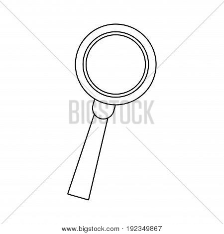 magnifying glass loupe handle search tool research business vector illustration