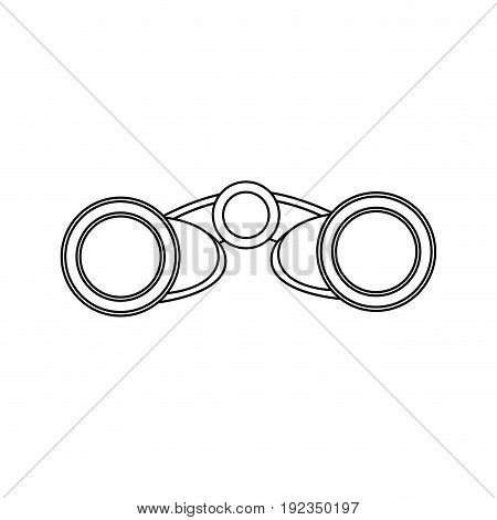 binoculars business element optic and lens theme front view vector illustration