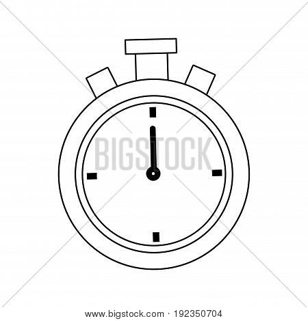chronometer stopwatch competition time concept vector illustration