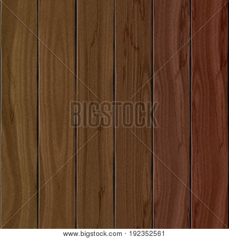 Endless realistic wooden planks board texture background