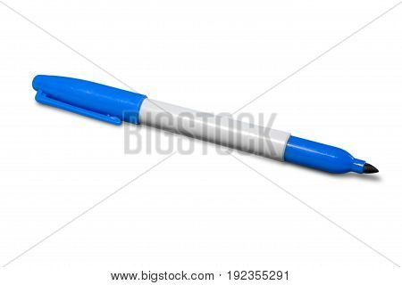 Blue pen point ballpoint white object design