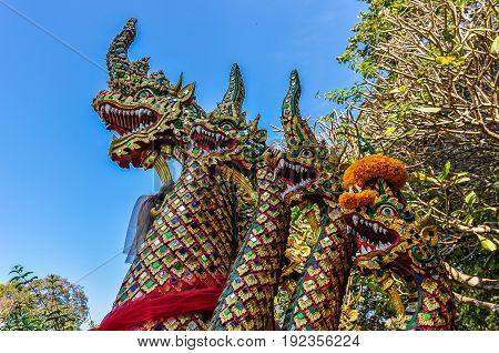 Dragib Statue In Doi Suthep Temple, Thailand