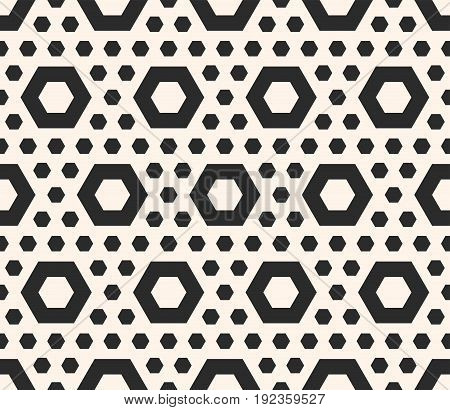 Seamless pattern. Vector hexagon texture with perforated hexagonal shapes, simple figures. Abstract repeating geometrical background. Design pattern, textile pattern, covers pattern, digital pattern, furniture pattern, decor pattern.