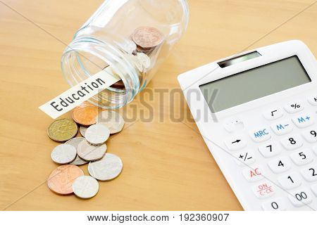 Sterling Finance - Stock image Currency Calculator Coin Currency