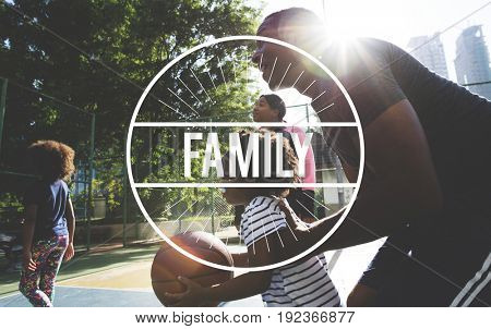 Family Time Quality Moment Word Graphic Stamp