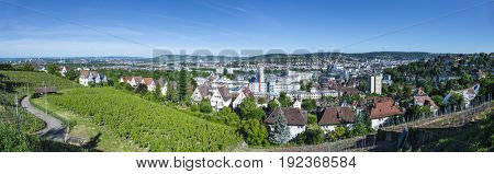 An image of a panoramic view to Stuttgart