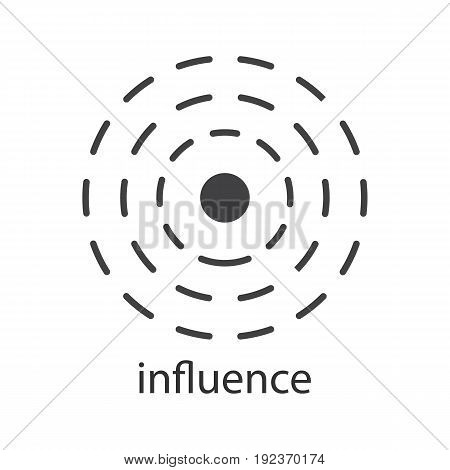 Influence glyph icon. Silhouette symbol. Negative space. Vector isolated illustration