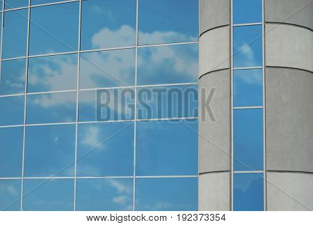 Modern skyscraper with tinted windows