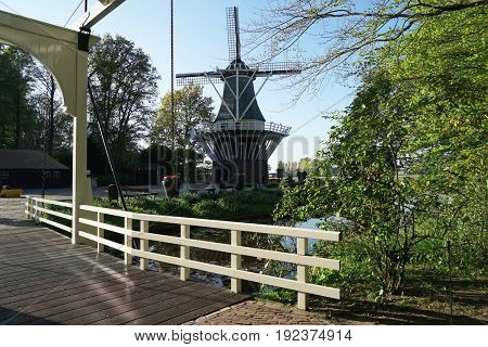Monument of windmill in park