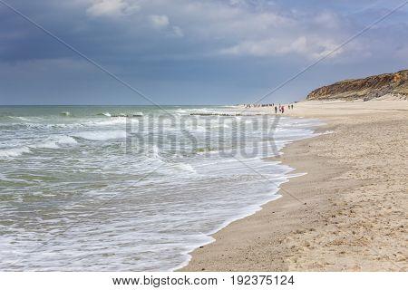 North Sea beach of Rotes Kliff at Kampen, Sylt