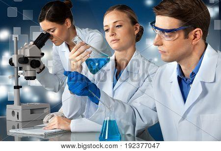 Lab laboratory scientists equipment people women medicine