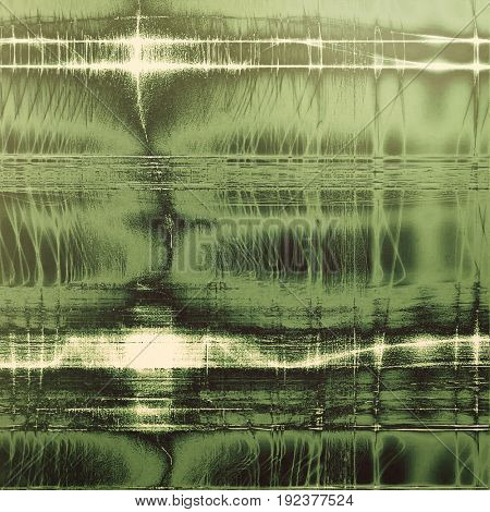 Damaged retro texture with grunge style elements and different color patterns: green; brown; gray; black; white