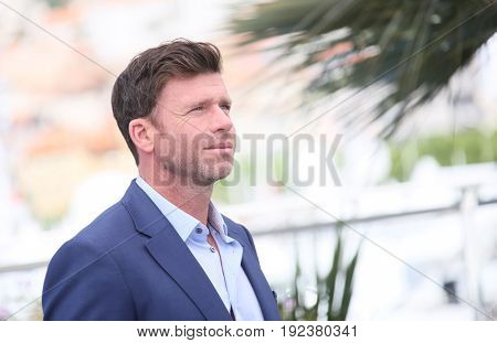 Taylor Sheridan attends the 'Wind River' photocall during the 70th annual Cannes Film Festival at Palais des Festivals on May 20, 2017 in Cannes, France.