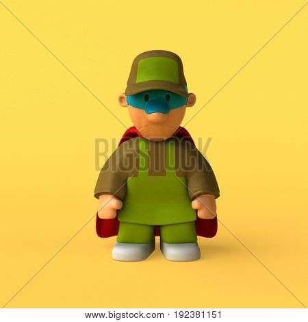 Gardener - 3D Illustration