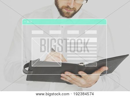 Website Template Layout Blank Banner
