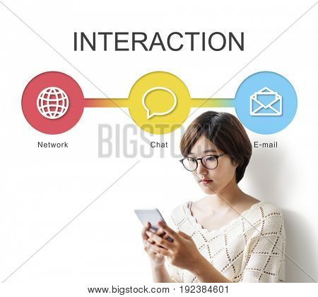 Asian Woman Communication Interaction