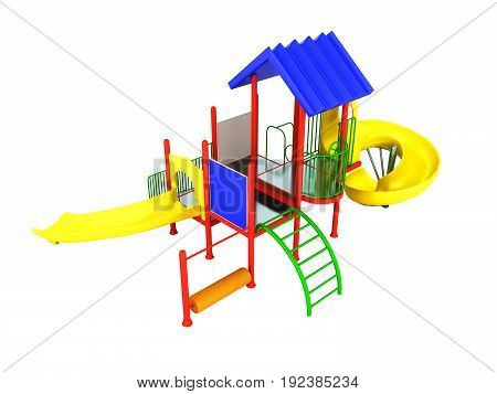 Motley Playground красная 3D Render On White Background No Shadow